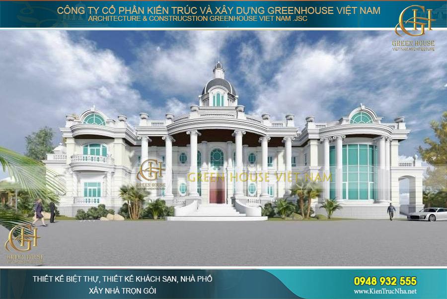 thiết kế dinh thự lâu đài cổ điển tại Bình Dương