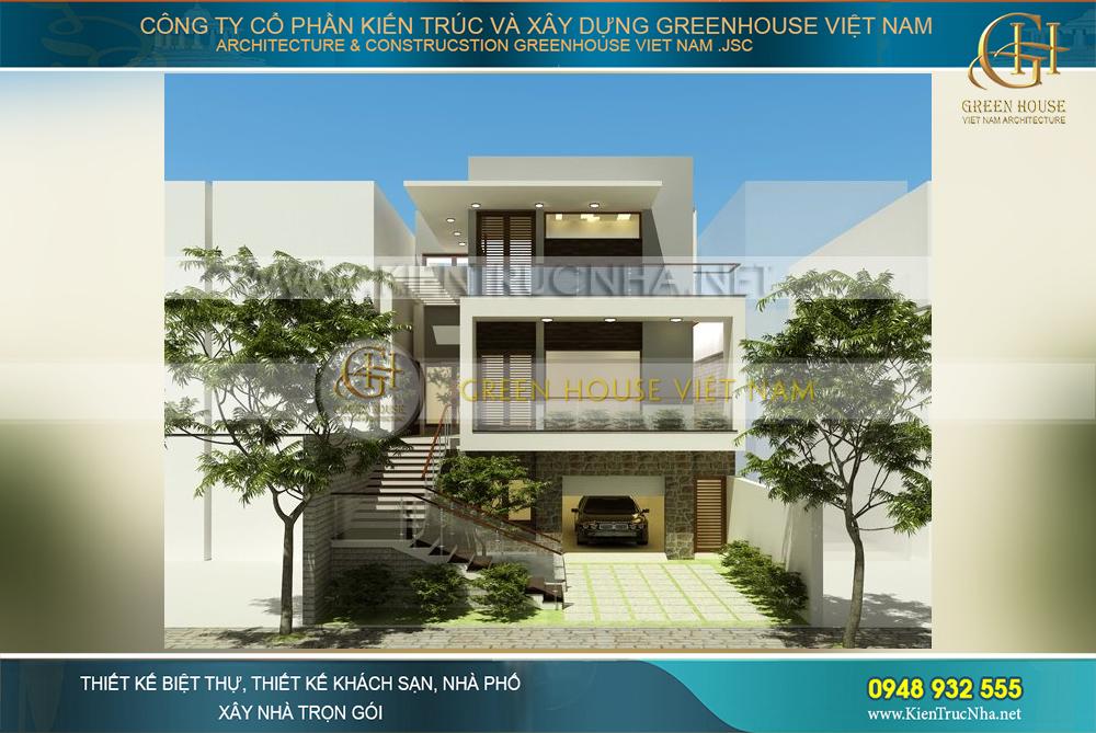 biệt thự hiện đại 3 tầng mặt tiền 10m