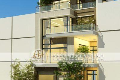 biệt thự 4 tầng mặt tiền 9m hiện đại