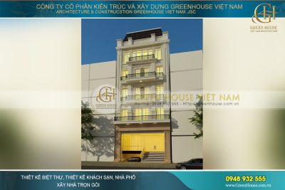 Nhà ống kinh doanh khách sạn 5 tầng mặt tiền 9m cổ điển