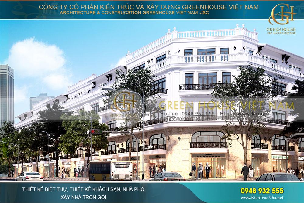 thiết kế tuyến phố shop house tại bắc giang