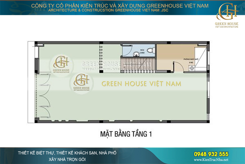thiết kế shophouse mặt tiền 4m