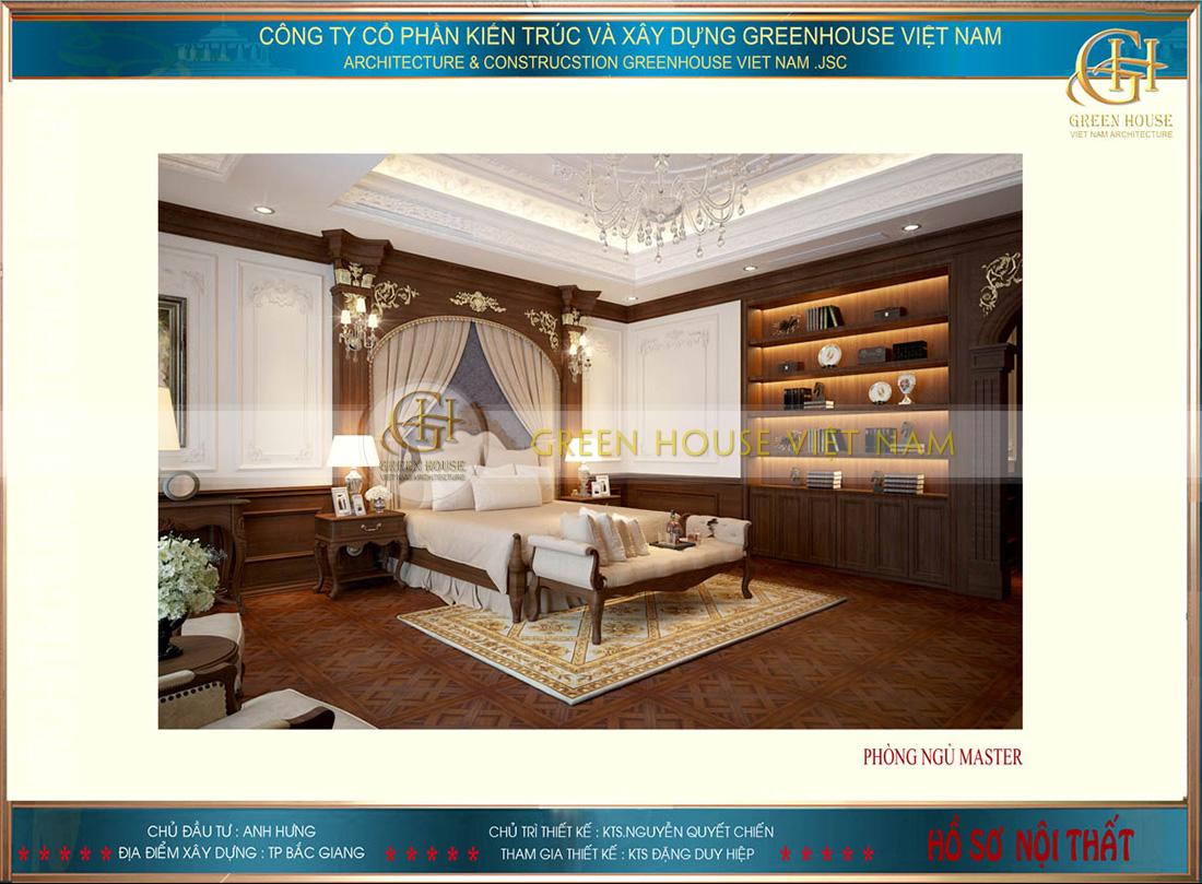 phòng ngủ chính của bố mẹ
