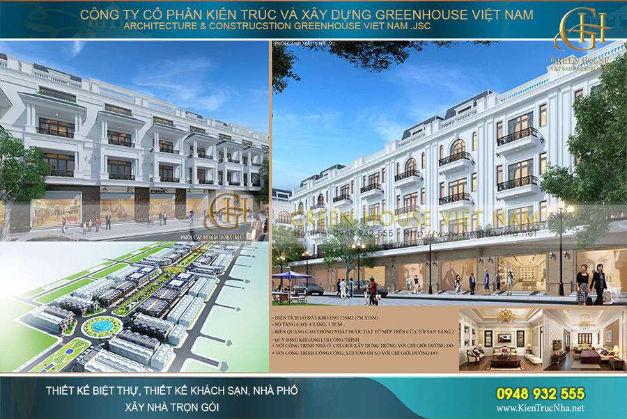 Dự án quy hoạch Shophouse khu đi bộ 68m tại Bắc Giang