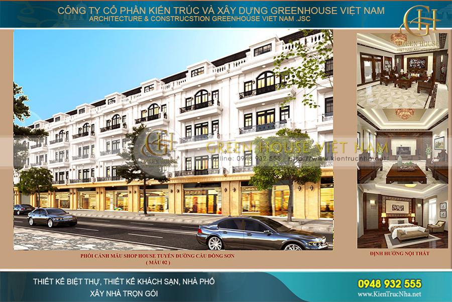 Thiết kế quy hoạch nhà ở tuyến đường dẫn cầu Đông Sơn Bắc Giang