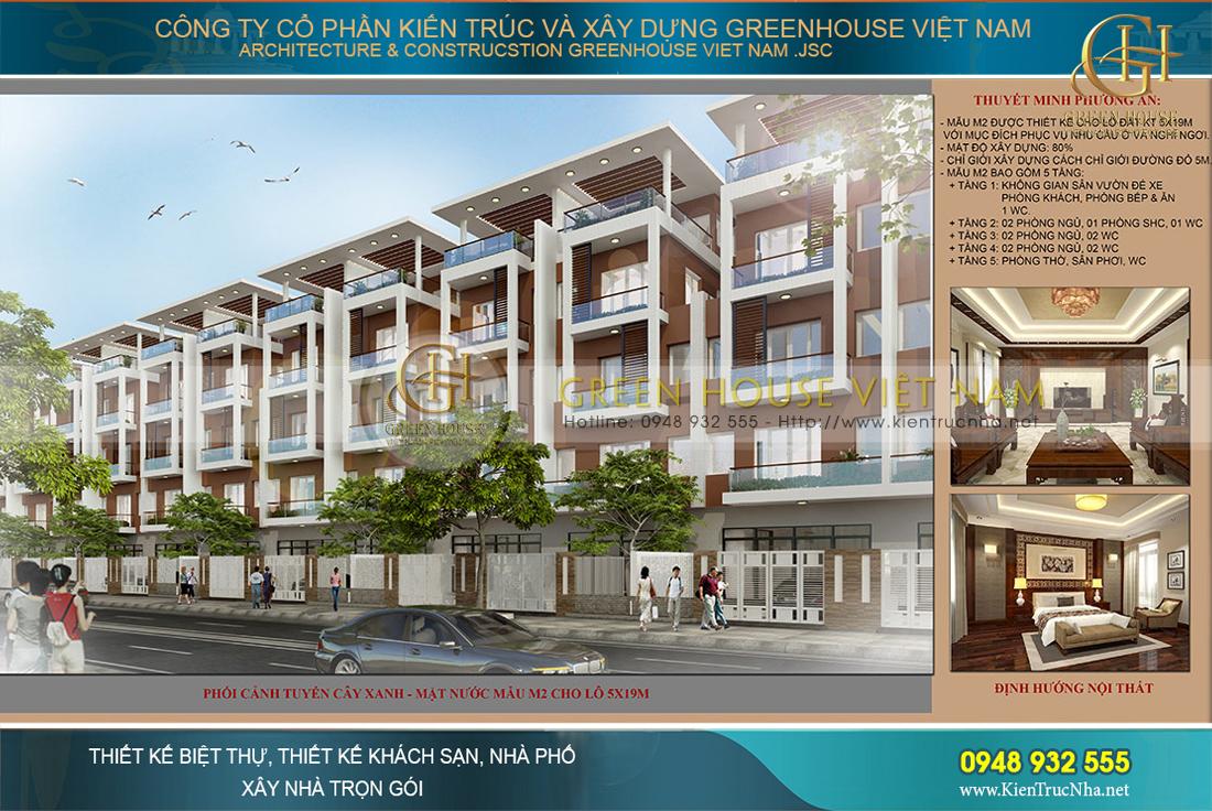Thiết kế nhà ở trục đường giải cây xanh mặt nước tại Bắc Giang