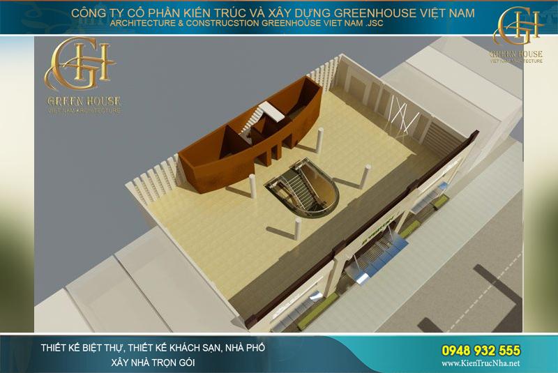 thiết kế showroom chăn ga