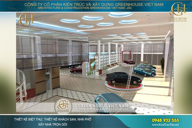 thiết kế showroom oto