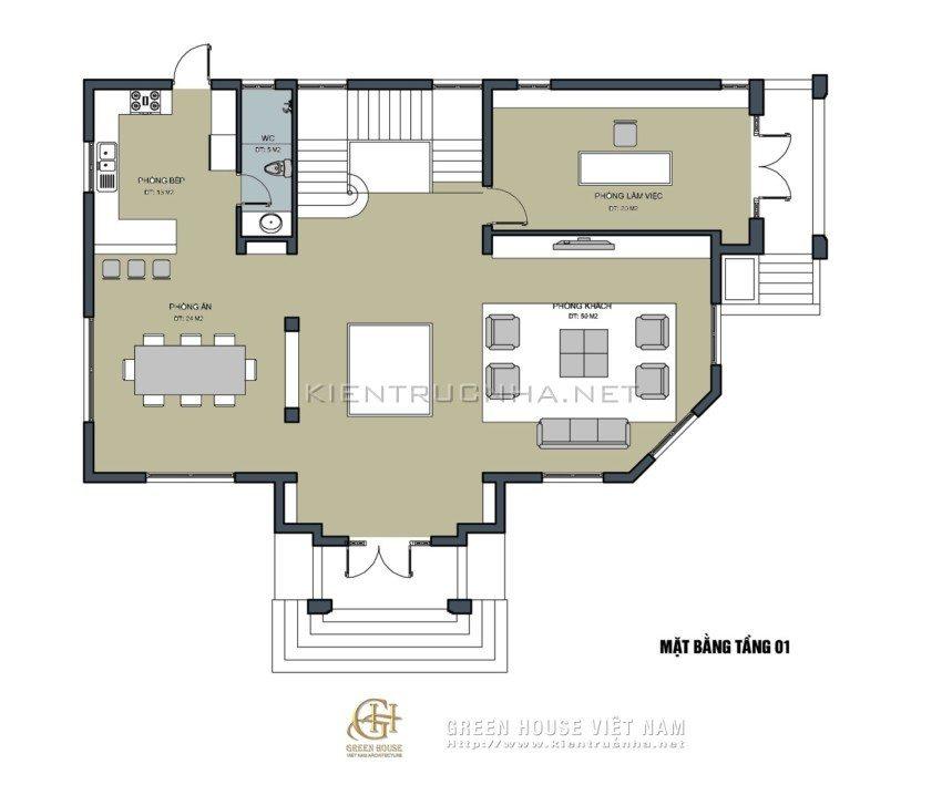 biệt thự 3 tầng 2 mặt tiền
