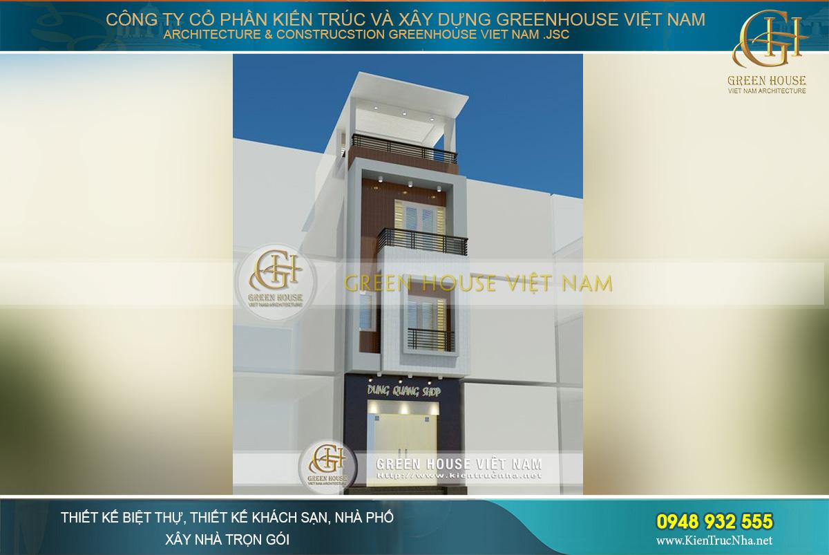 thiết kế nhà phố 4 tầng