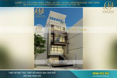 thiết kế nhà phố 5 tầng tại Thái Nguyên