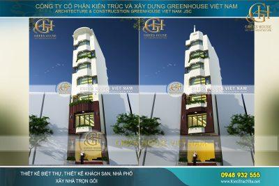 thiết kế nhà ống 7 tầng hiện đại