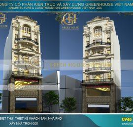 nhà phố 7 tầng cổ điển kết hợp kinh doanh
