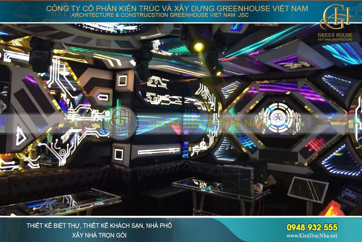 thiết kế nội thất quán karaoke cổ điển