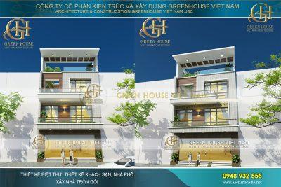 thiết kế nhà phố 3 tầng tại bắc giang