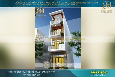 thiết kế nhà phố 4 tầng 72m2