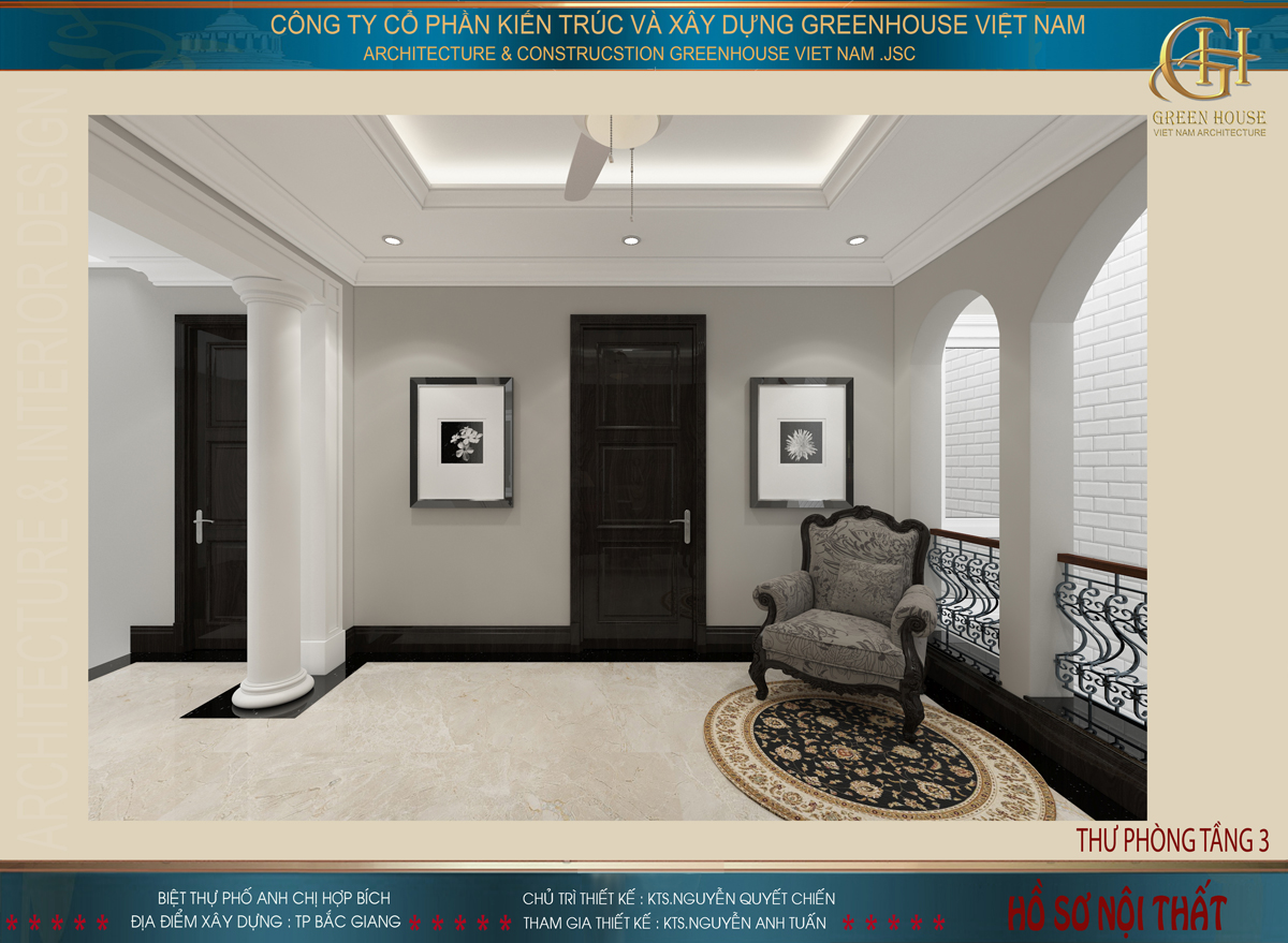 thiết kế nội thất nhà anh chị Hợp Bích