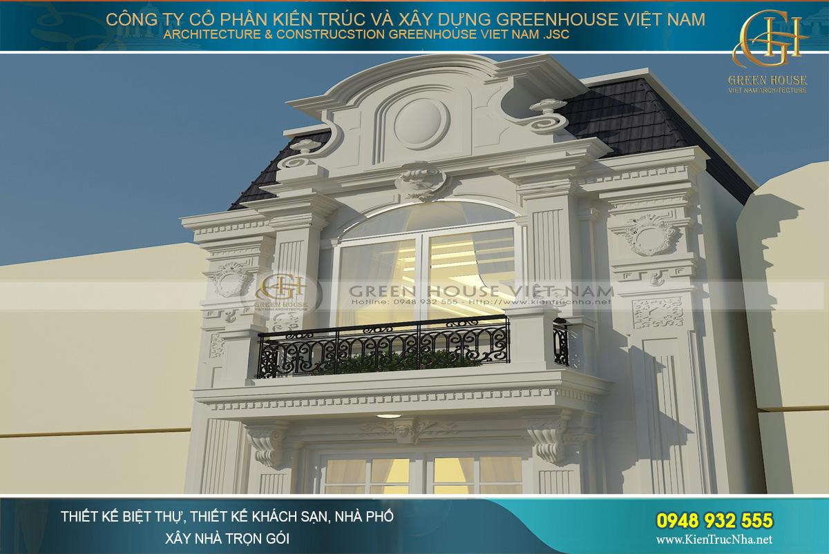thiết kế nhà phố 4 tầng cổ điển