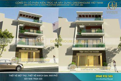 thiết kế nhà phố 4 tầng kết hợp kinh doanh