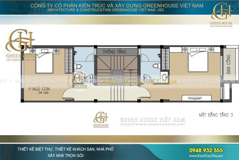 thiết kế nhà phố 4 tầng mặt tiền 6m