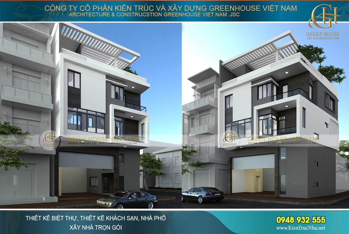 thiết kế nhà phố kết hợp kinh doanh 5 tầng