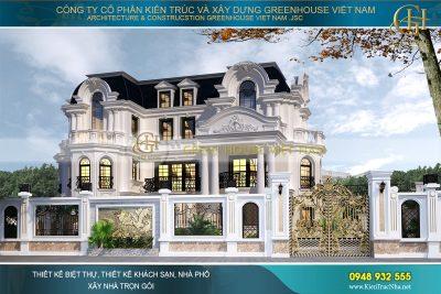 biệt thự cổ điển kiến trúc Pháp