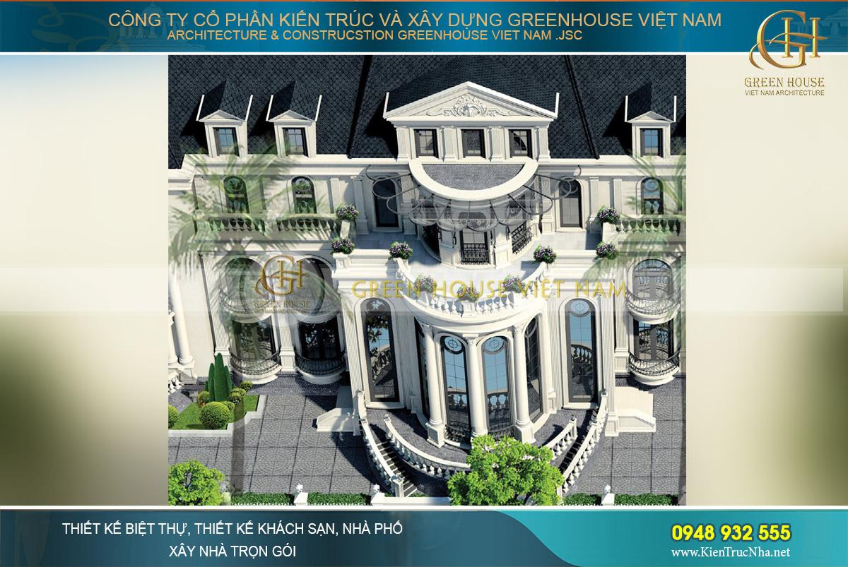 thiết kế biệt thự, dinh thự tân cổ điển đẳng cấp