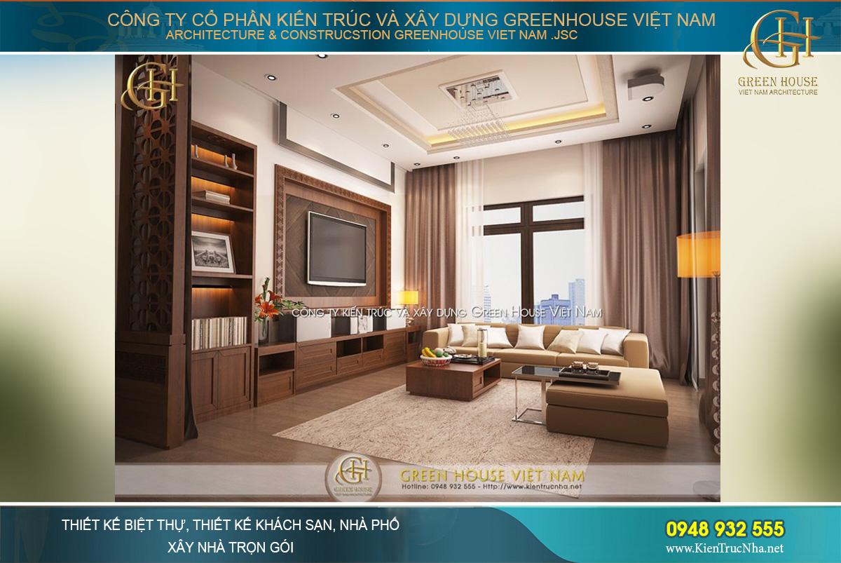 thiết kế nội thất biệt thự hiện đại phong cách Á Đông