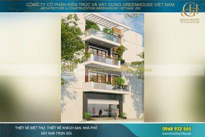 thiết kế nhà phố 4 tầng hiện đại tại Hà Nội