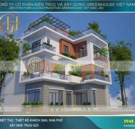 thiết kế nhà phố hiện đại 3 tầng 700 triệu