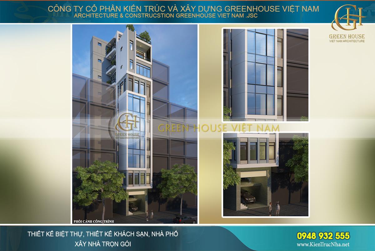 nhà phố kết hợp kinh doanh 9 tầng
