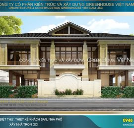 thiết kế biệt thự hiện đại phong cách Á Đông