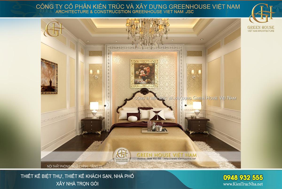 thiết kế nội thất biệt thự tân cổ điển 3 tầng