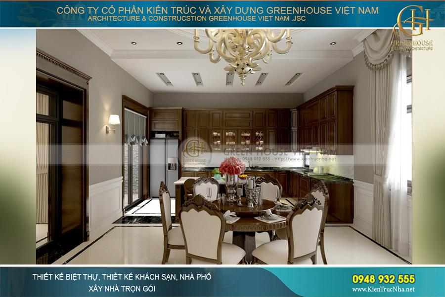 thiết kế nội thất biệt thự tân cổ điển Pháp tại Bắc Giang