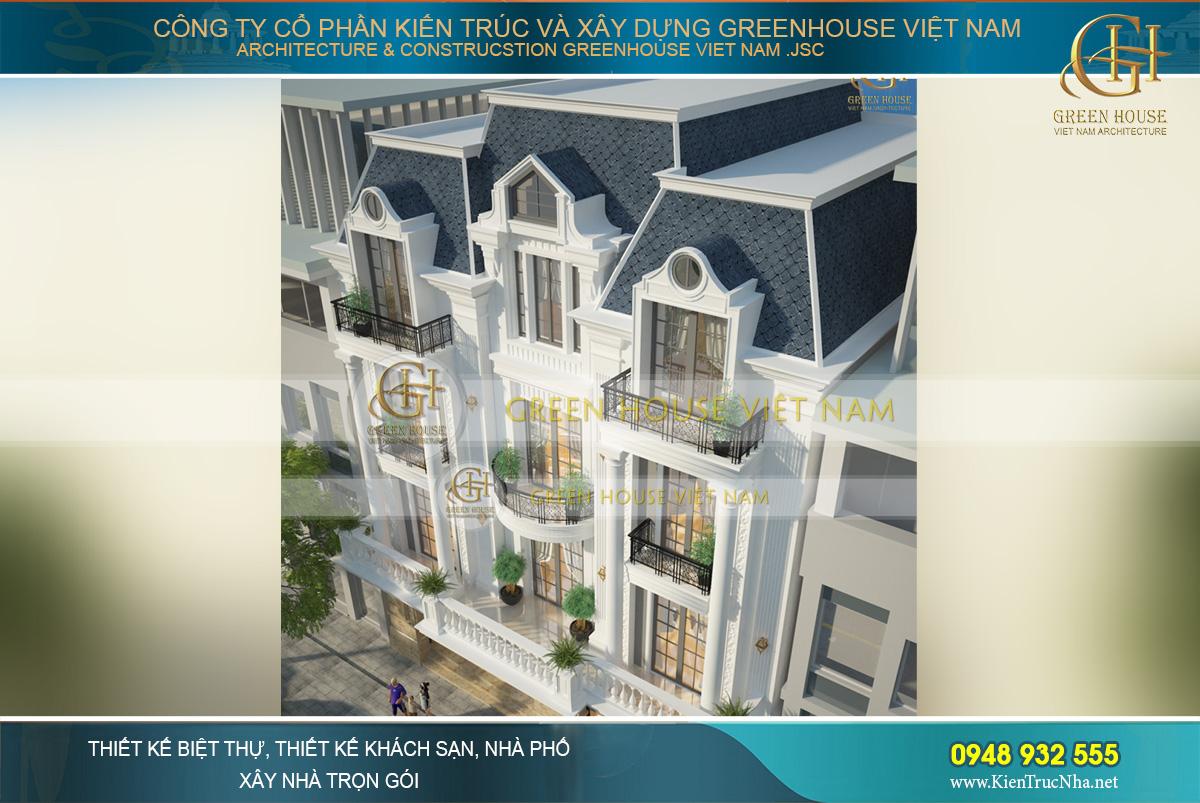 thiết kế biệt thự tân cổ điển Pháp tại Bắc Giang