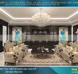 thiết kế nội thất tân cổ điển cho biệt thự bắc giang