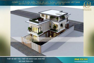 thiết kế biệt thự hiện đại 3 tầng Hà Nội