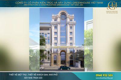 thiết kế khách sạn tân cổ điển tại hà nội