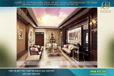 thiết kế nội thất biệt thự cổ điển tại hà nội