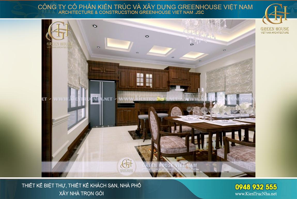 thiết kế nội thất biệt thự phố tân cổ điển tại Hà Nội
