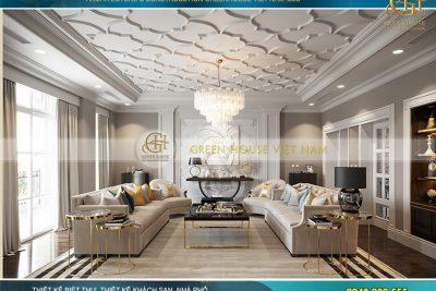 thiết kế nội thất biệt thự tân cổ điển 5 tầng tại hà nội