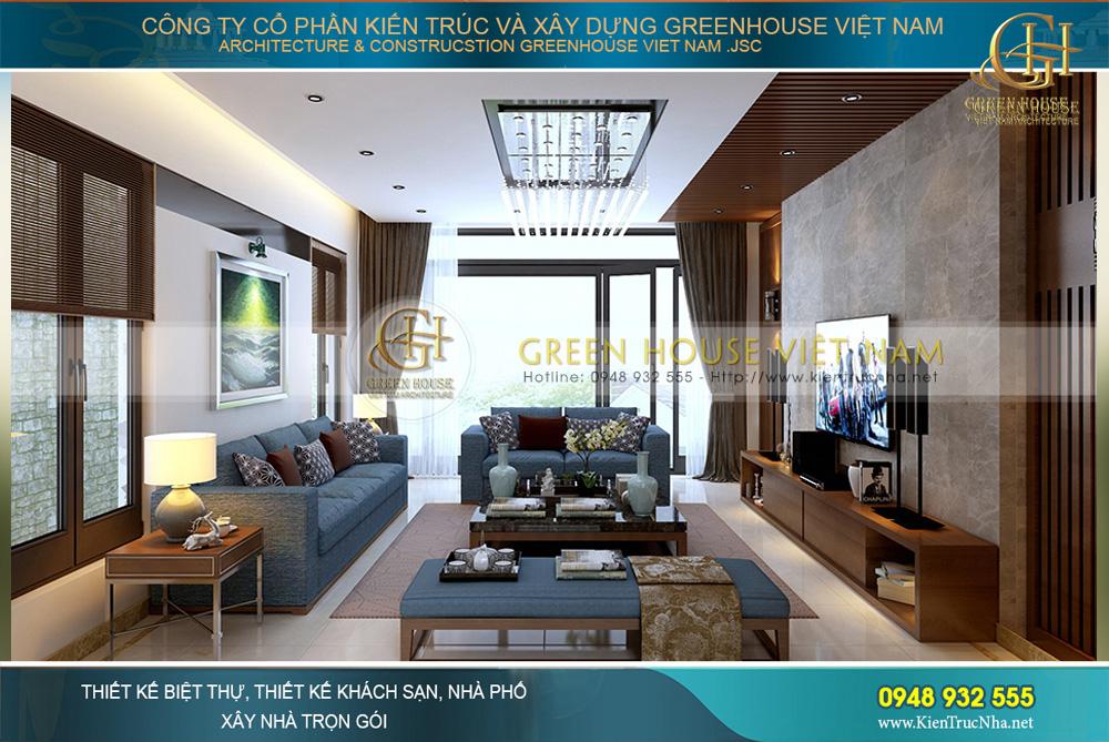 thiết kế nội thất nhà phố hiện đại tại Bắc Giang