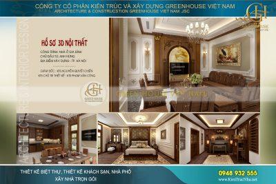 thiết kế nội thất nhà phố tân cổ điển tại Hà Nội