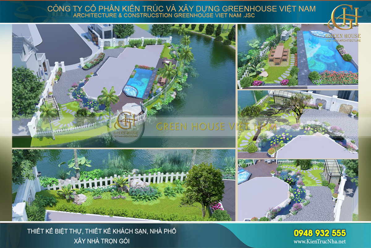 thiết kế biệt thự tân cổ điển 3 tầng tại Vinhomes Hà Nội