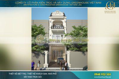 thiết kế nhà phố tân cổ điển 3 tầng tại Bắc Giang
