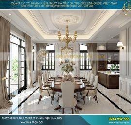 thiết kế nội thất phòng ăn biệt thự tân cổ điển đẹp
