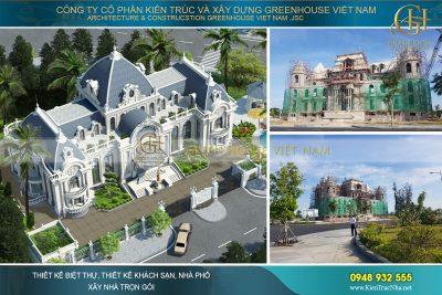 thi công trọn gói biệt thự tân cổ điển 3 tầng tại Phan Thiết