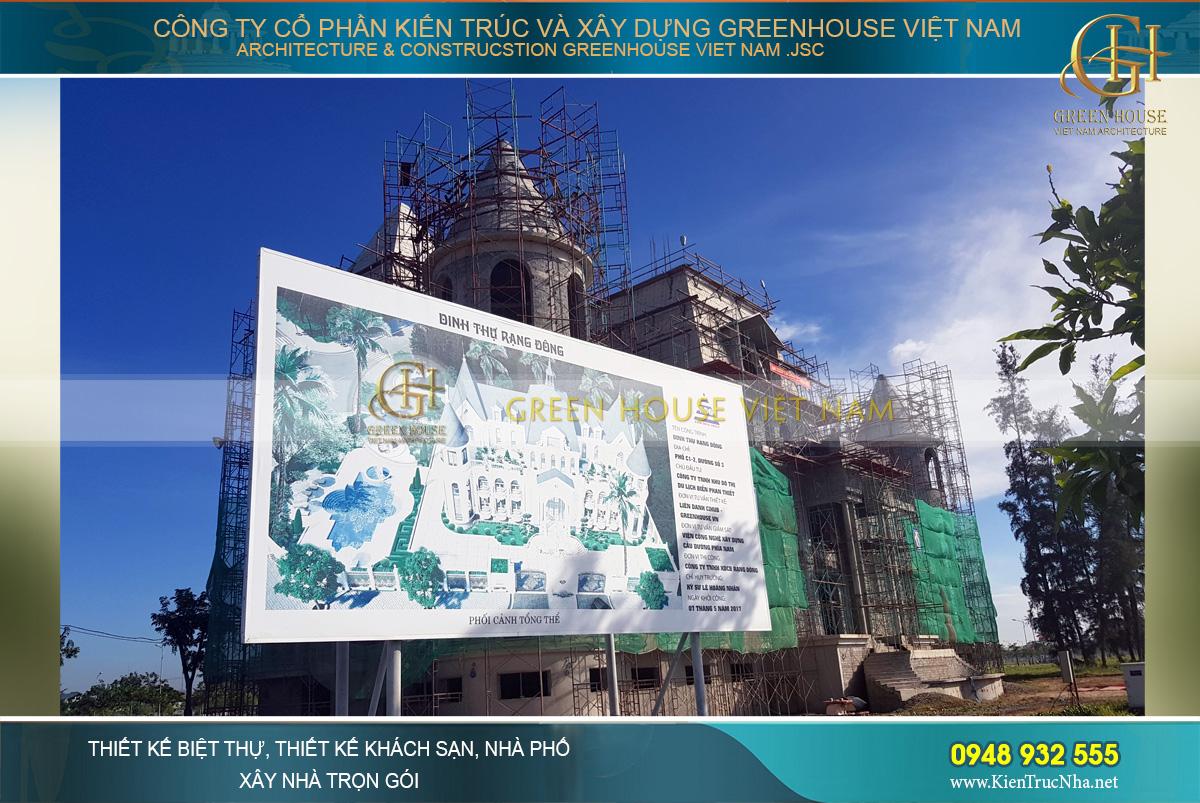 thiết kế biệt thự cổ điển Rạng Đông tại Phan Thiết