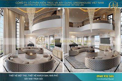thiết kế nội thất biệt thự tân cổ điển 3 tầng tại vinhomes riverside hà nội