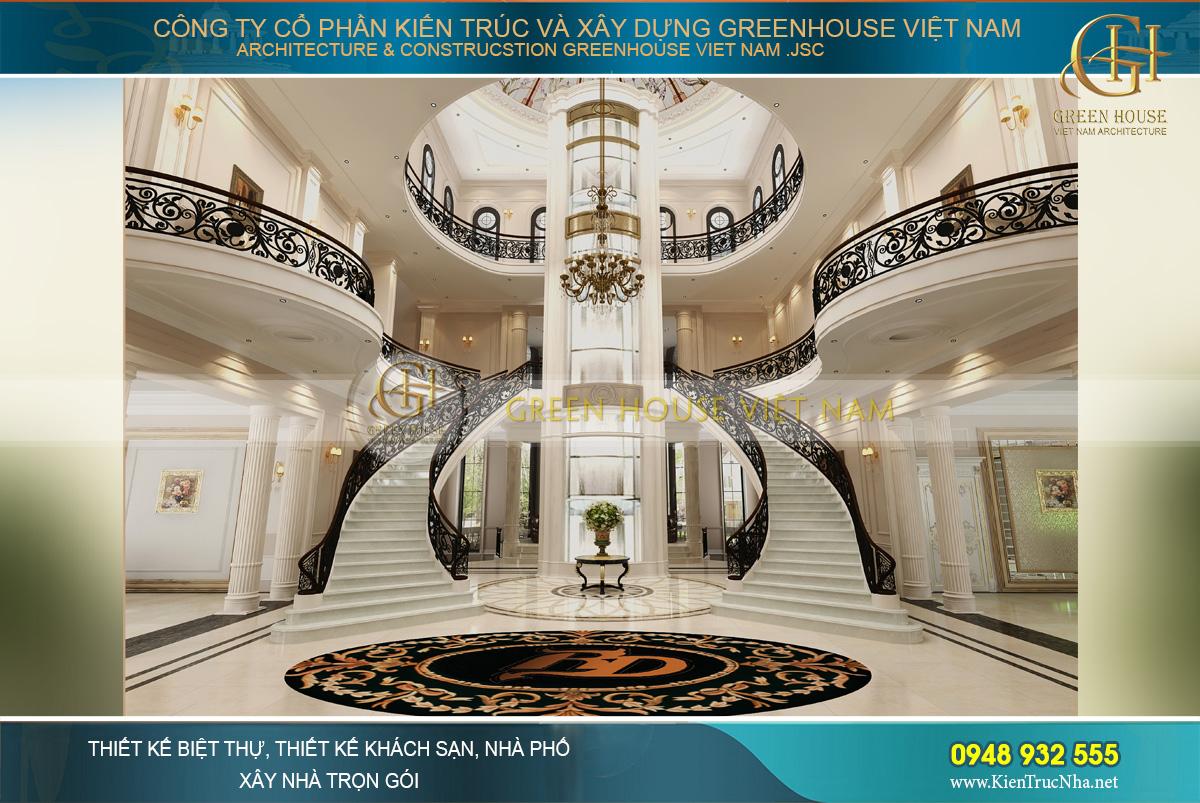 thiết kế nội thất biệt thự tân cổ điển tại Phan Thiết